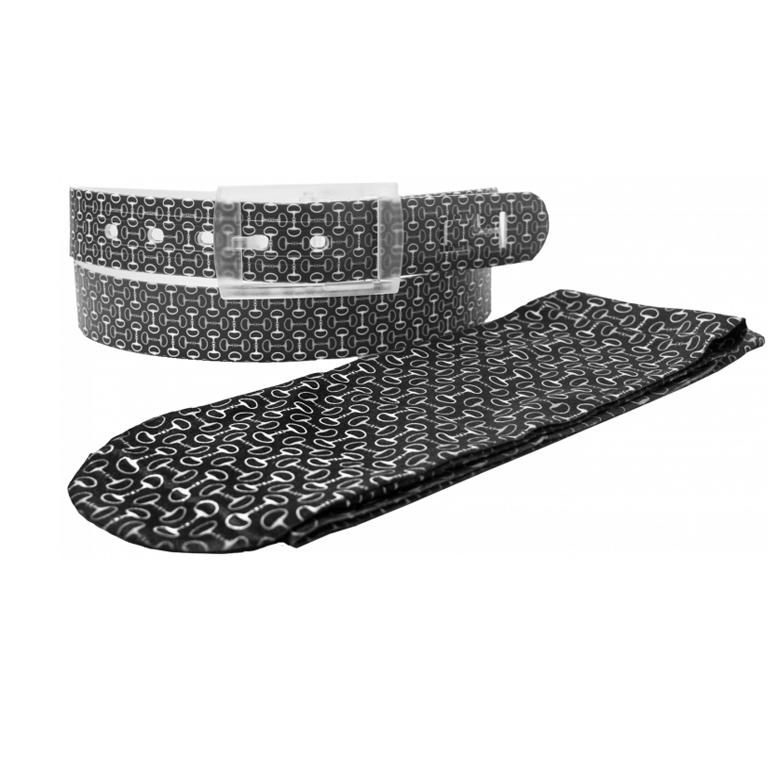 5624385770a Chaussettes C4 Noires Motifs Petits Mors